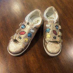 Sam Edelman Liv Wendy Glitter Emoji Buckle Shoes